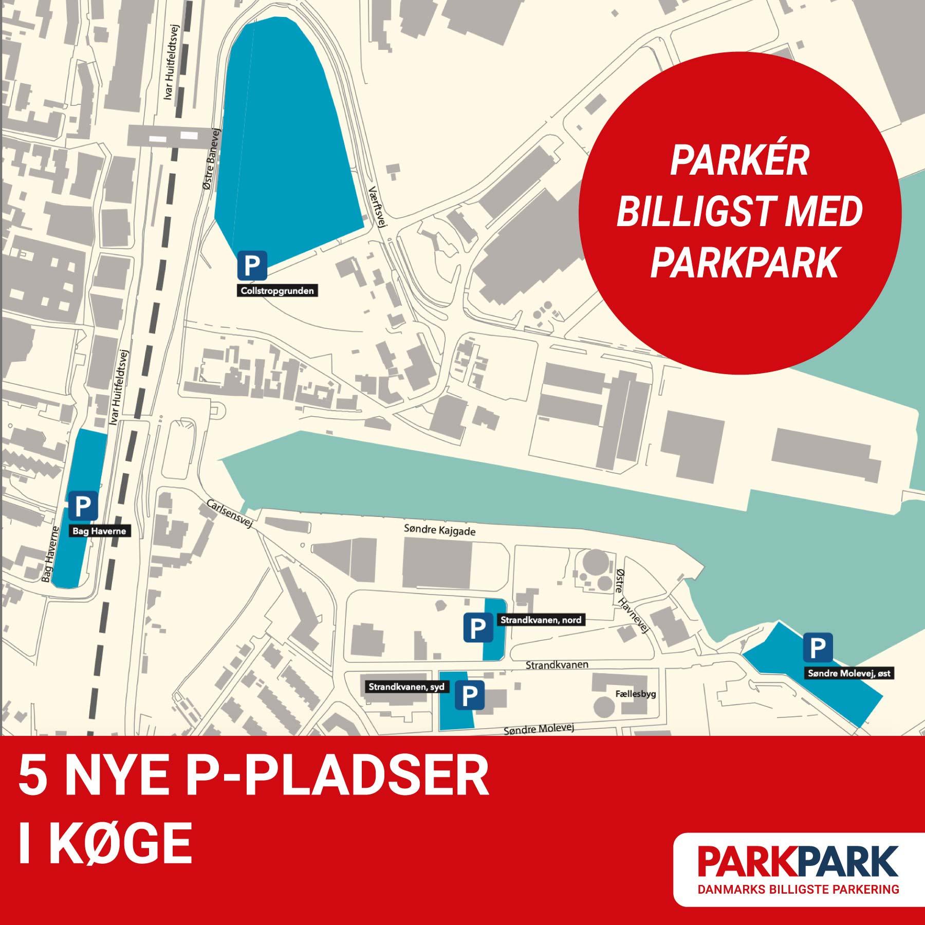 Nyheder - NYE P-PLADSER I KØGE