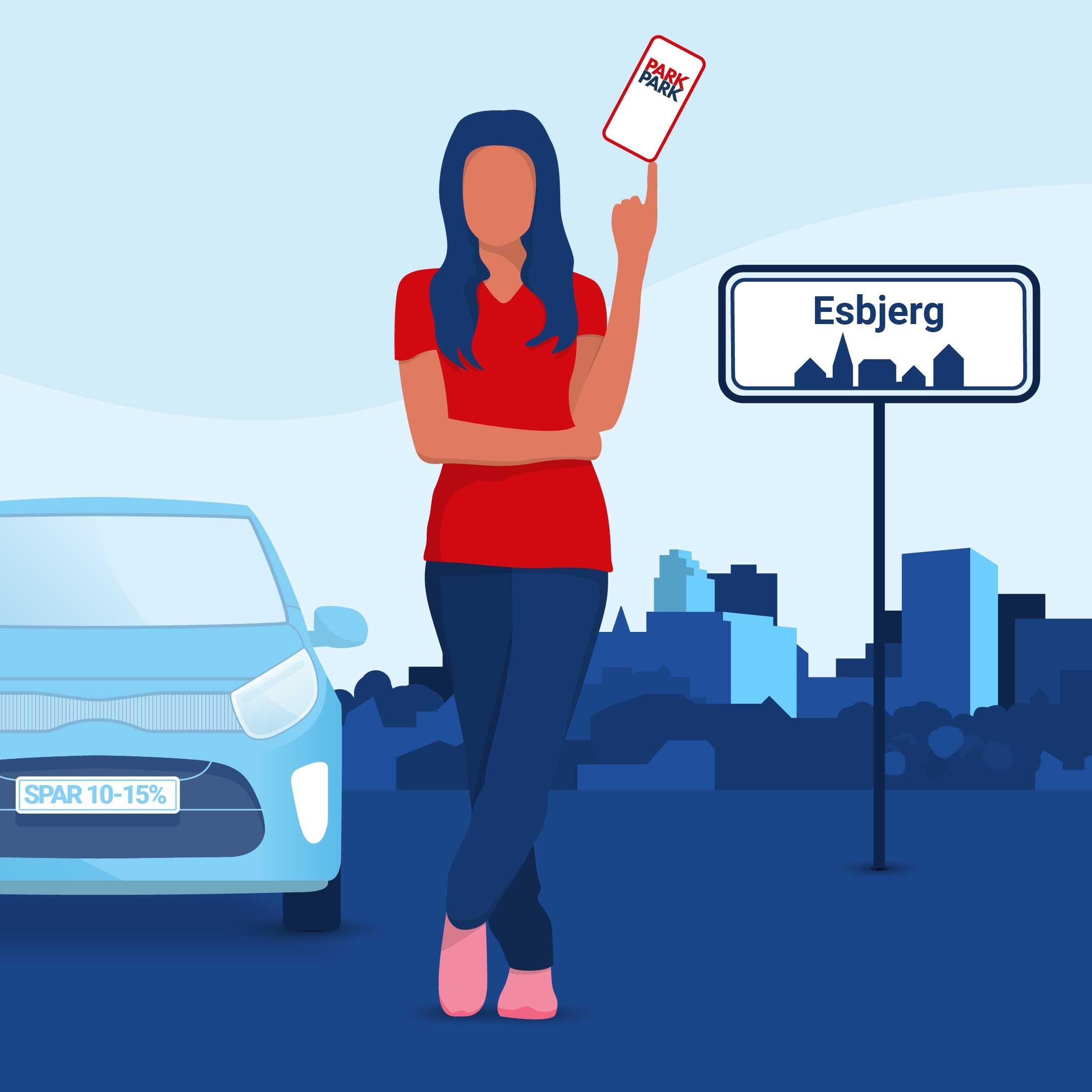 Nyheder - Danmarks billigste parkerings-app indtager Esbjerg
