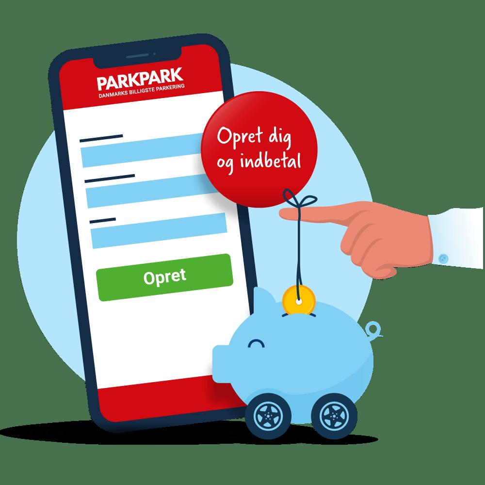 Download app - Opret og indbetal